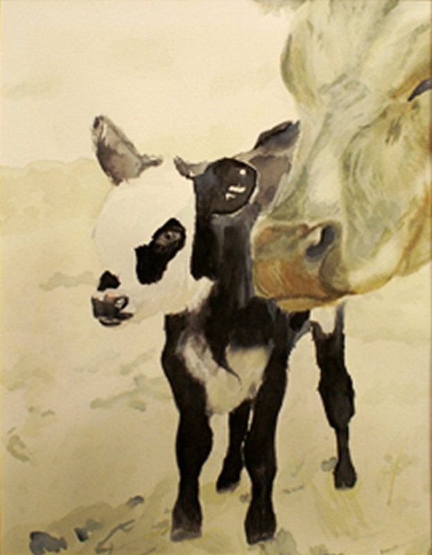 Daddy's Cow and Calf
