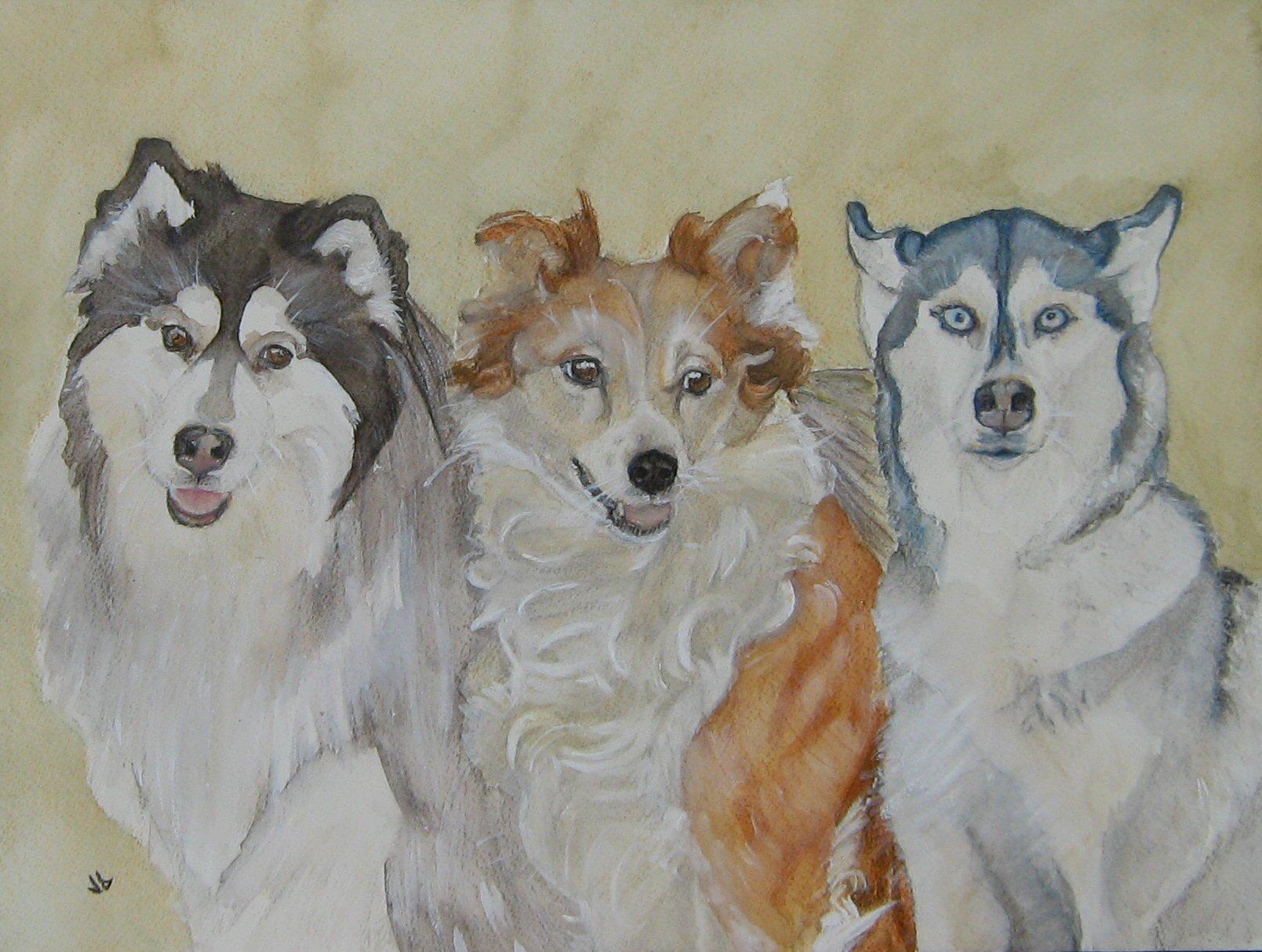 Cody, Casey, and Kaya painting